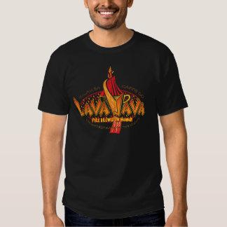 Design do círculo do Lava-JAVA-Café Tshirts