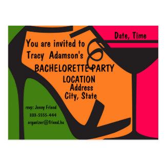 Design do convite da festa de solteira