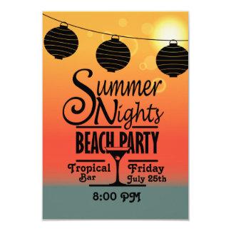 Design do convite de festas da praia das noites de