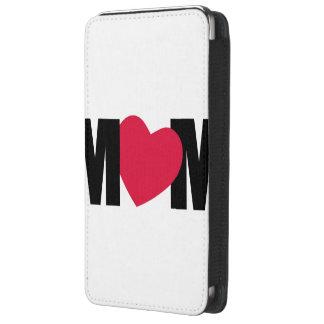 """Design do coração da """"MAMÃ"""" - M <3 M - Bolsa De Celular"""