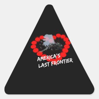 Design do coração da vela para o estado de Alaska Adesivo Triangular