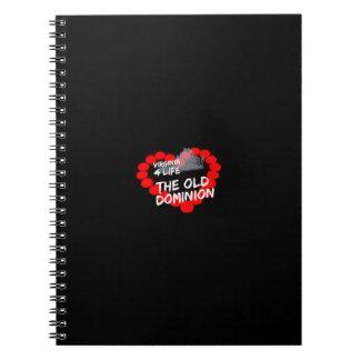 Design do coração da vela para o estado de caderno espiral