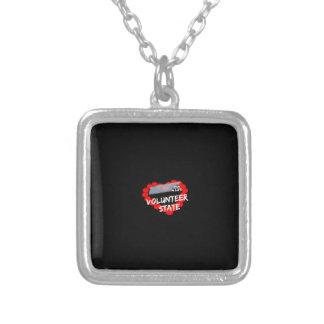 Design do coração da vela para o estado de colar banhado a prata