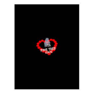 Design do coração da vela para o estado de Maine Cartão Postal