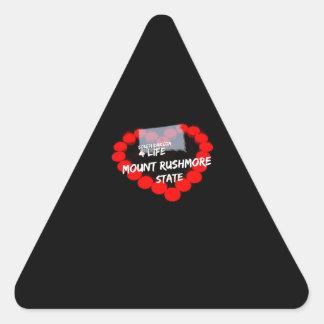 Design do coração da vela para o estado de South Adesivo Triangular