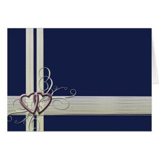 Design do coração dos azuis marinhos cartão comemorativo