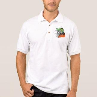 Design do crânio da fantasia camisa polo