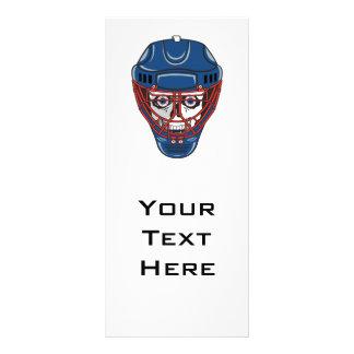 design do crânio da máscara do goalie do hóquei em panfletos informativos