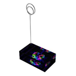 Design do crânio suportes para cartão de mesa