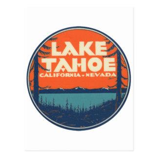 Design do decalque das viagens vintage de Lake Cartão Postal