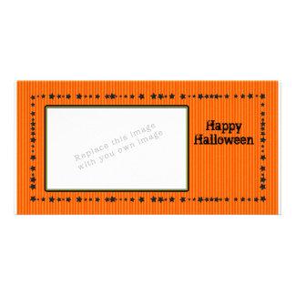 Design do Dia das Bruxas com estrelas Cartão Com Foto