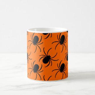 design do Dia das Bruxas da aranha da viúva negra Caneca De Café