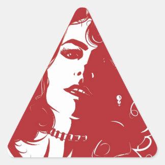 Design do disjuntor do coração adesivo triangular