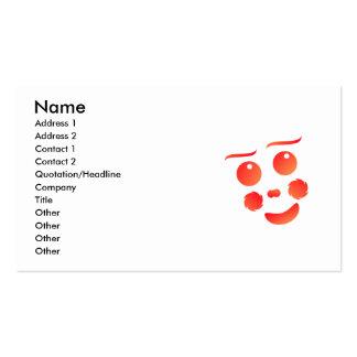 Design do divertimento da cara da forma do palhaço cartão de visita