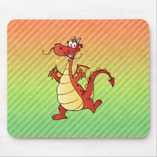 Design do dragão dos desenhos animados mouse pad