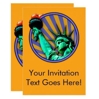 Design do emblema da estátua da liberdade convite 12.7 x 17.78cm