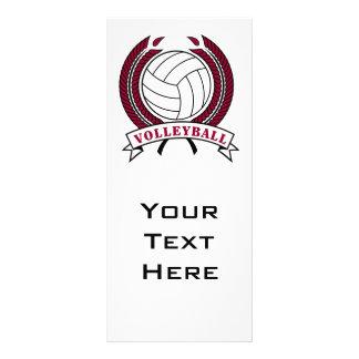 design do emblema do voleibol do louro panfletos informativos personalizados
