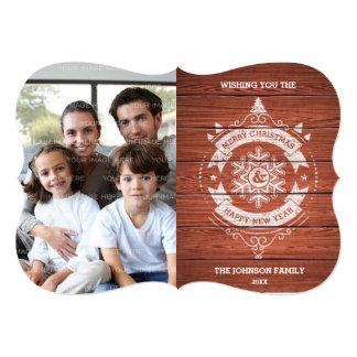 Design do Feliz Natal e do feliz ano novo Convite 12.7 X 17.78cm