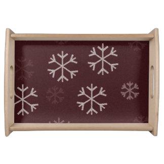 Design do floco de neve da bandeja do Natal