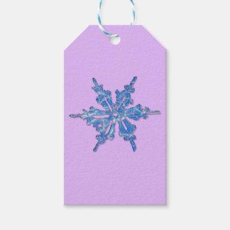 Design do floco de neve do inverno para Xmas 3 Etiqueta Para Presente
