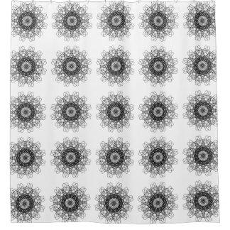 Design do floco de neve na cortina de chá cortina para chuveiro