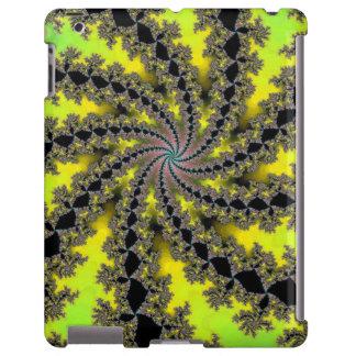 Design do fractal da espiral do limão do limão capa para iPad