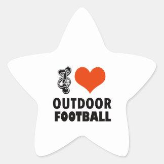 design do futebol adesivo estrela