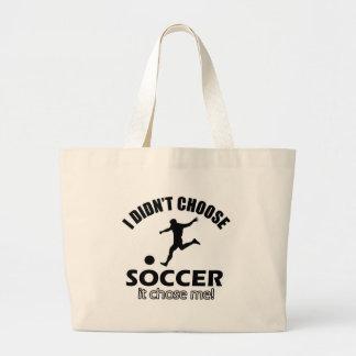 design do futebol bolsas de lona