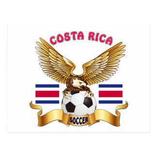 Design do futebol de Costa Rica Cartão Postal