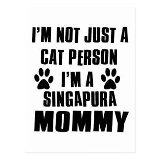 Design do gato das camisas de Singapura Cartão Postal