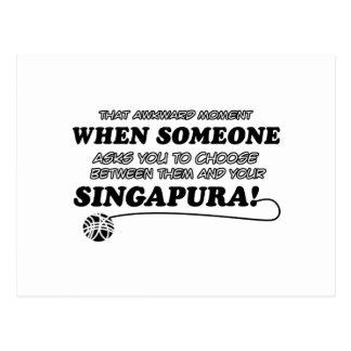 Design do gato de SINGAPURA