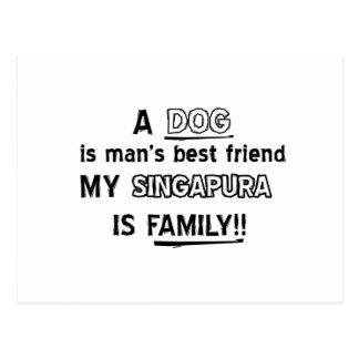 Design do gato de SINGAPURA Cartão Postal