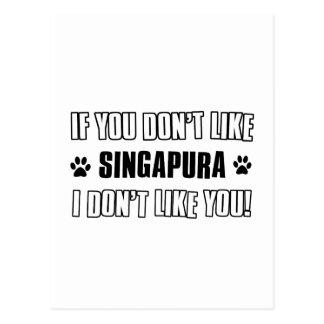 Design do gato de SINGAPURA Cartoes Postais