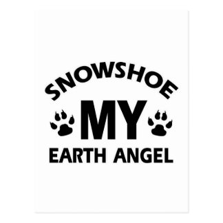 design do gato do sapato de neve cartão postal