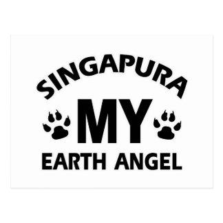 design do gato do singapura cartão postal
