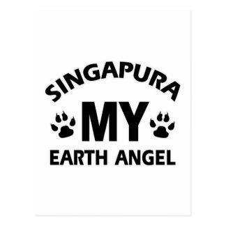 design do gato do singapura cartões postais