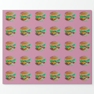 design do Hamburger, pintura original Papel De Presente