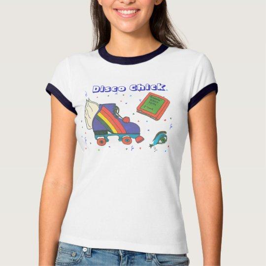 Design do ícone do skate de rolo do anos 80 do camiseta