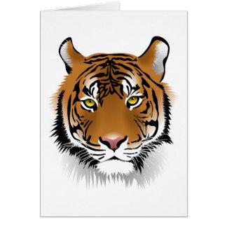 Design do impressão da cabeça do tigre cartão comemorativo