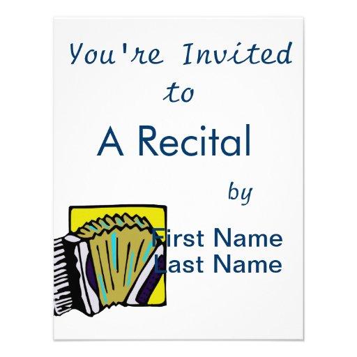 Design do instrumento musical do gráfico #3 de Acc Convite