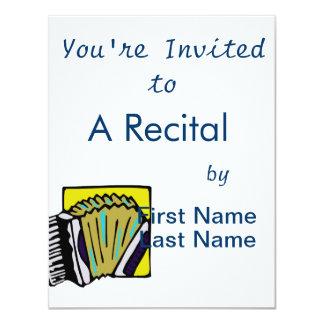 Design do instrumento musical do gráfico #3 de convite
