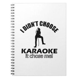 design do karaoke caderno