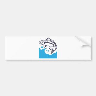Design do logotipo dos peixes adesivo para carro