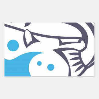 Design do logotipo dos peixes adesivo retangular