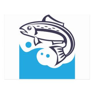Design do logotipo dos peixes cartão postal