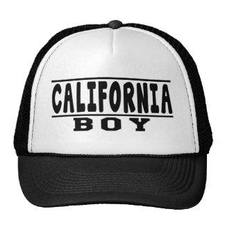 Design do menino de Califórnia Boné