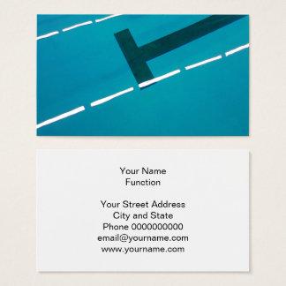 Design do modelo de cartão de negócios da piscina