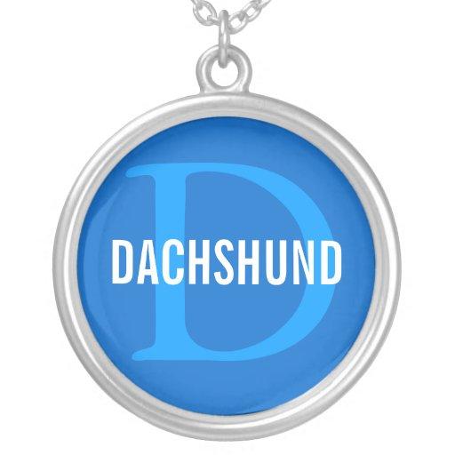 Design do monograma da raça do Dachshund Pingente