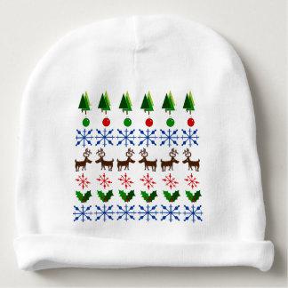 Design do Natal no chapéu do bebê Gorro Para Bebê