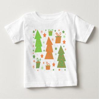 Design do Natal - verde e laranja Camiseta Para Bebê